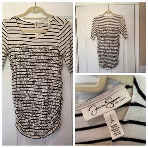 Black and White Jessica Simpson Maternity Shirt
